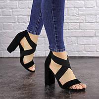 Женские босоножки на каблуке Fashion Dusty 1550 40 размер 25,5 см Черный