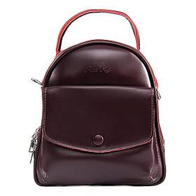 Рюкзак из натуральной кожи ALEX RAI 09-2 2229-220 burgundy