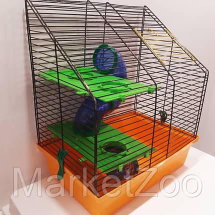 """Клетка для хомяков """"Вилла 4 люкс"""".Размер - 335х225х385, фото 2"""