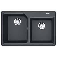 Кухонная мойка врезная гранит Franke UBG 620-78 двойная графит (114.0574.899)
