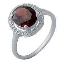 Серебряное кольцо GS с натуральным гранатом (2035015) 18 размер