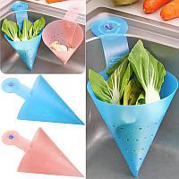 Фильтр - дуршлаг складной для мытья ягод, фруктов или сбора очисток, фото 1