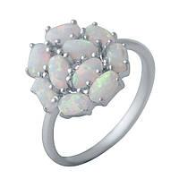 Серебряное кольцо GS с опалом (2040125) 18 размер