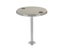 Набор круглый стол со стойкой, цвет серый