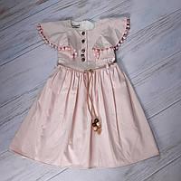 Платье для девочек в нежно-розовом цвете 8-13 лет