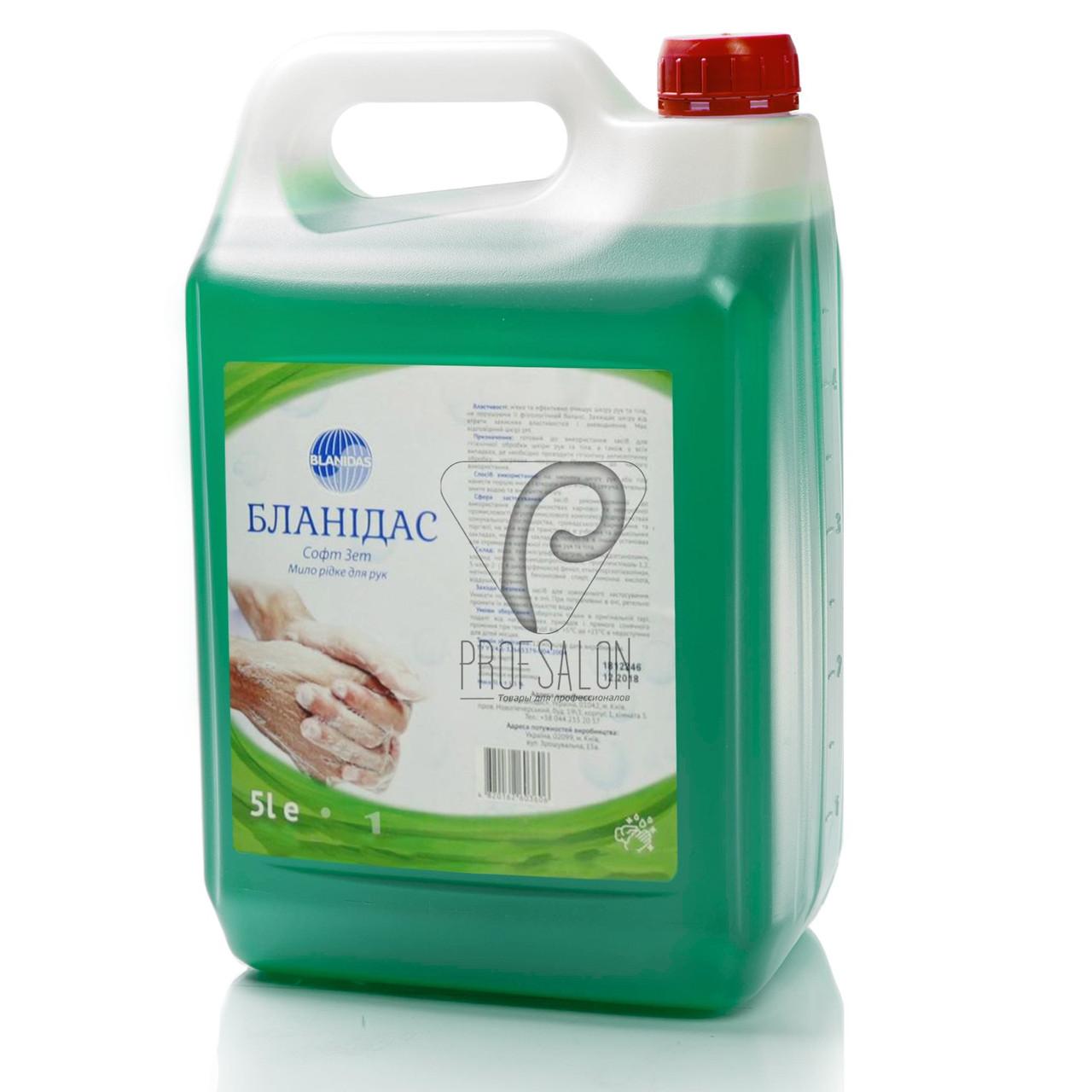 Жидкое мыло Бланидас Софт Зет 5л, профессиональное, для гигиеничесской дезинфекции рук и кожи