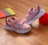 Кросівки дитячі для дівчинки рожеві, фото 3