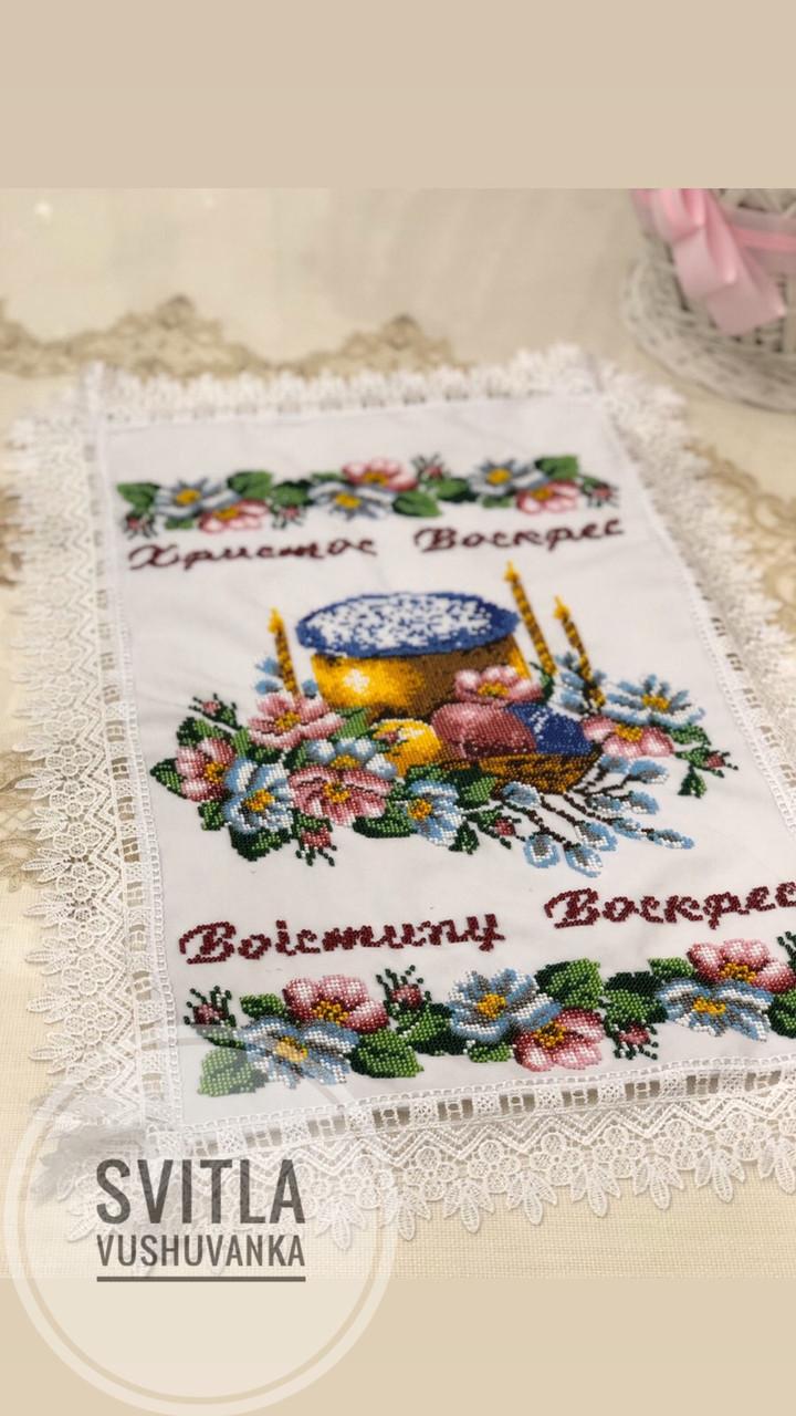 Великодній рушник «Пасочка в цвітінні»