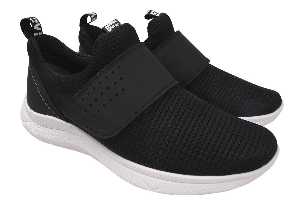 Туфли мужские, подростковые Mida текстиль, цвет черный, размер 36-39 Украина