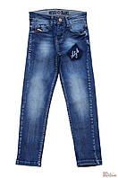 Джинсы синего цвета с надписью (104 см.) A-yugi Jeans 2125000655543