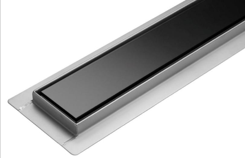 Трап для душа с черным стеклом стеклом 50 см Epelli Giorno Vetro Nero