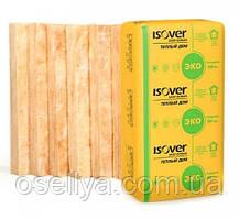 """Утеплювач мінеральний """"ISOVER"""" теплий дім плита 50 ММ (0,61Х1,17 М) 10м²"""