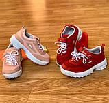 Кросівки дитячі для дівчинки рожеві, фото 5