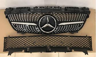 Решетка радиатора Mercedes SLK R172 (11-16) стиль Diamond AMG