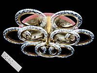 Светодиодная люстра с пультом диммером и цветной подсветкой бронза 2509-6+3S