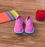 Кросівки дитячі для дівчинки рожеві сліпони, фото 2