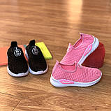 Кросівки дитячі для дівчинки рожеві сліпони, фото 4