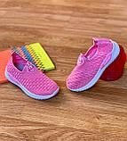 Кросівки дитячі для дівчинки рожеві сліпони, фото 3
