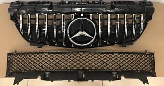 Решетка радиатора Mercedes SLK R172 (11-16) стиль GT AMG