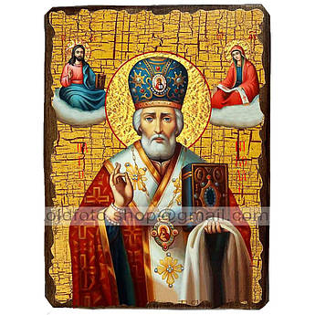 Икона Николай Чудотворец ,икона на дереве 130х170 мм