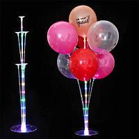 Светодиодная подставка (стойка) для воздушных шаров (на 7 штук)