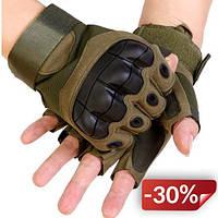 Перчатки без пальцев  штурмовые тактические Viper HJG00377 Зеленый (tau_krp270_00377f)