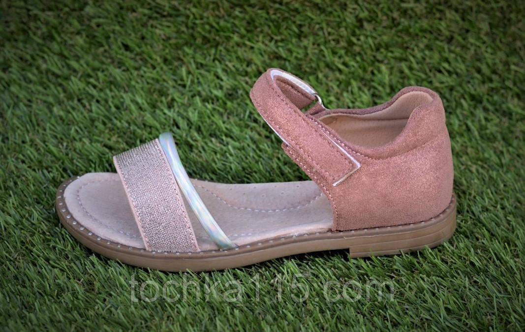 Детские босоножки сандали сандалии для девочки бежевые р31-36
