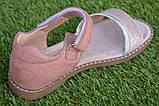 Детские босоножки сандали сандалии для девочки бежевые р31-36, фото 3