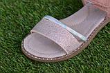 Детские босоножки сандали сандалии для девочки бежевые р31-36, фото 4
