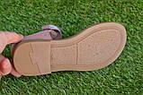 Детские босоножки сандали сандалии для девочки бежевые р31-36, фото 5