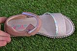 Детские босоножки сандали сандалии для девочки бежевые р31-36, фото 6