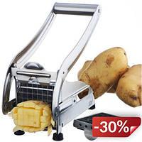 Картофелерезка Potato Chipper нержавеющая сталь NJ7584 Серебристый (10gad_krp215fhj)
