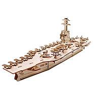 3D Конструктор деревянный корабль авианосец, фото 2