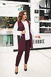 Стильный брючный костюм-тройка с удлиненным жилетом (жилет+брюки+блузка),2цвета Р-р.50-52;54-56;58-60 Код 229Е, фото 4