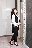 Стильный брючный костюм-тройка с удлиненным жилетом (жилет+брюки+блузка),2цвета Р-р.50-52;54-56;58-60 Код 229Е, фото 6