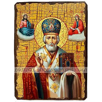 Икона Николай Чудотворец ,икона на дереве 170х230 мм