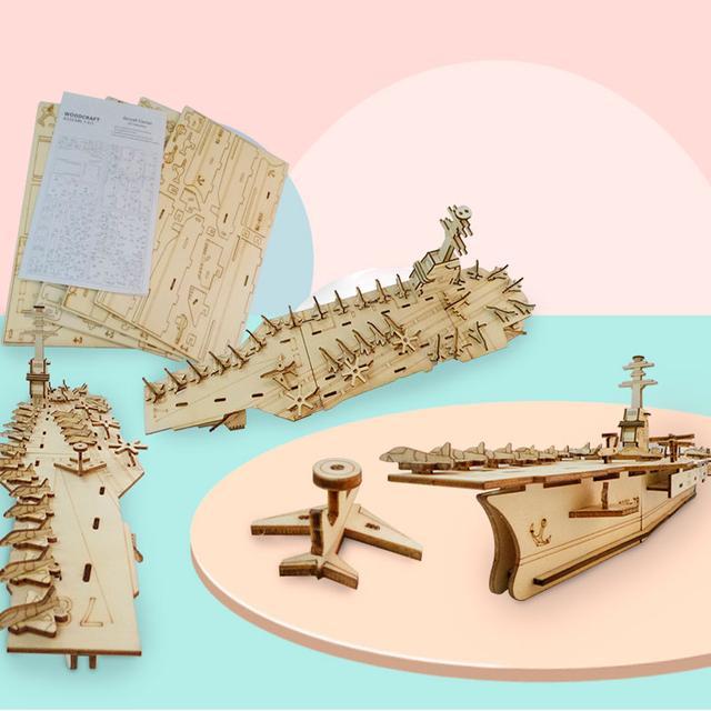 3D деревяннй конструктор корабль