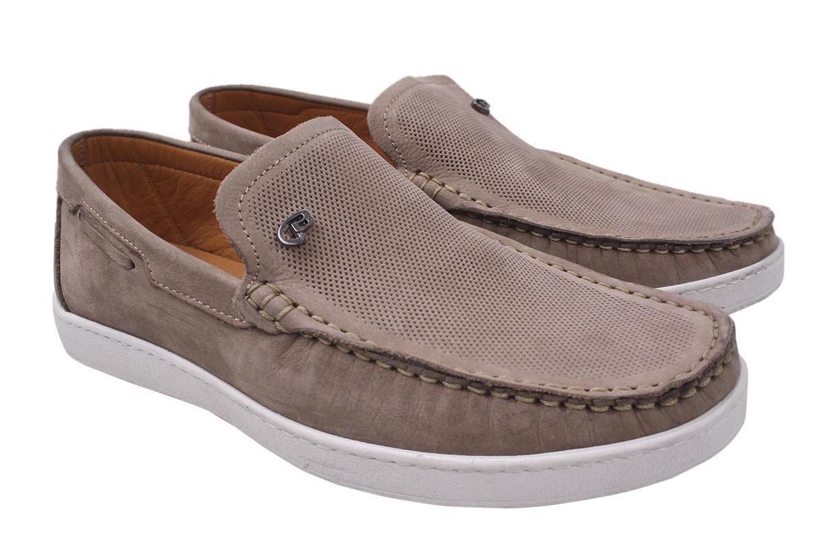 Туфлі чоловічі Max Step натуральний нубук, колір бежевий, розмір 40-45 Туреччина