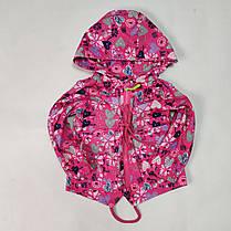 Детская куртка ветровка для девочки розовая сердечки 3-4 года, фото 2