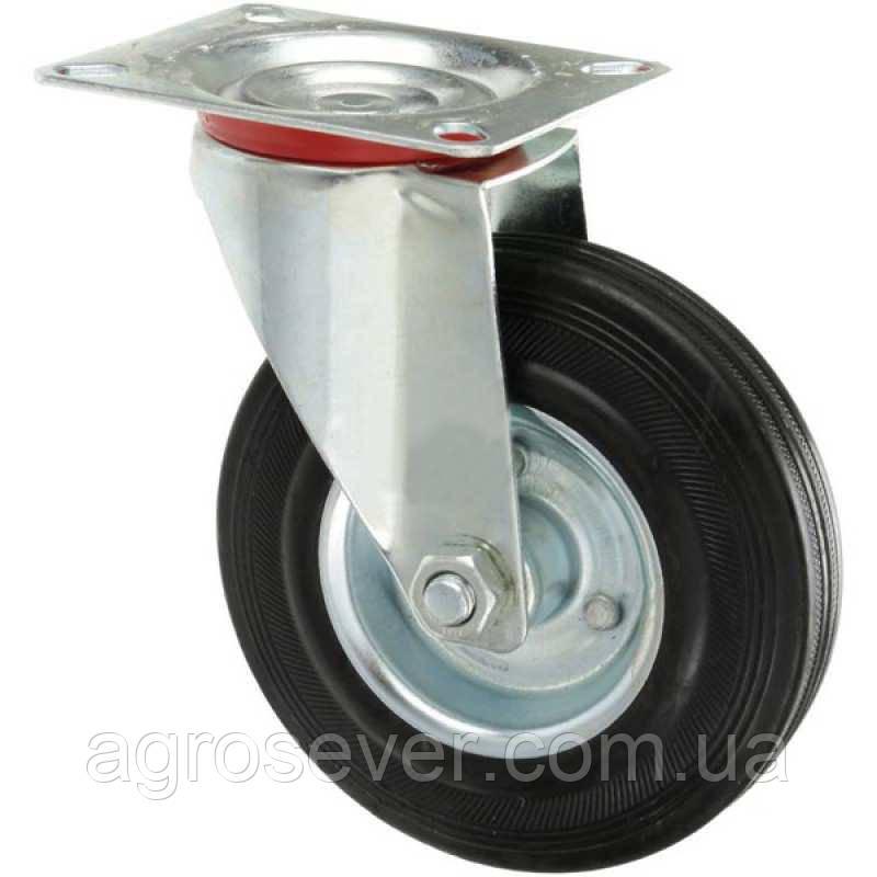Колесо промислове Ø 160 мм на поворотному кронштейні