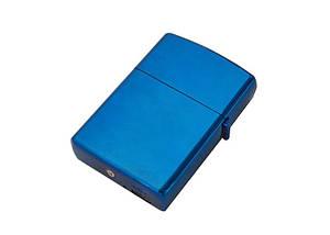Электроимпульсная USB зажигалка SUNROZ Синяя (SUN0211)