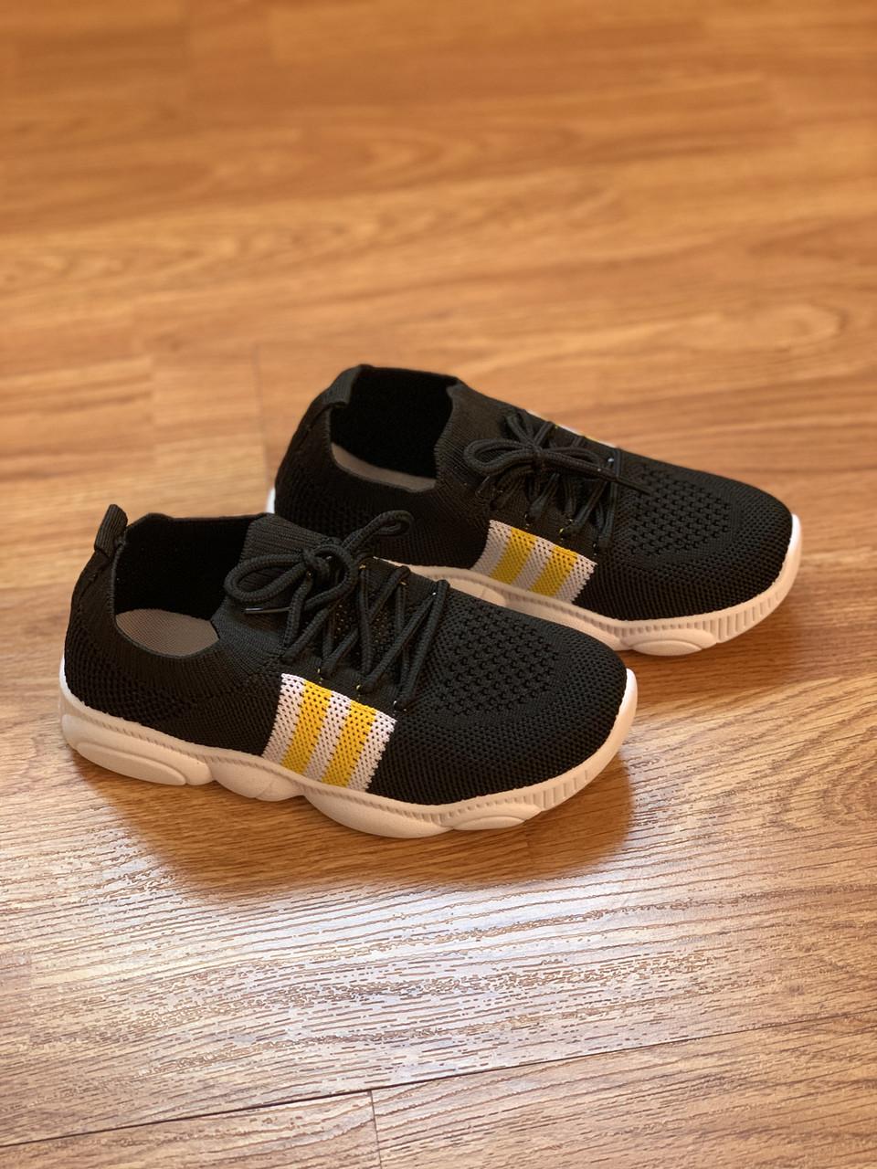 Кросівки чорні дитячі універсальні для дівчинки та хлопчика