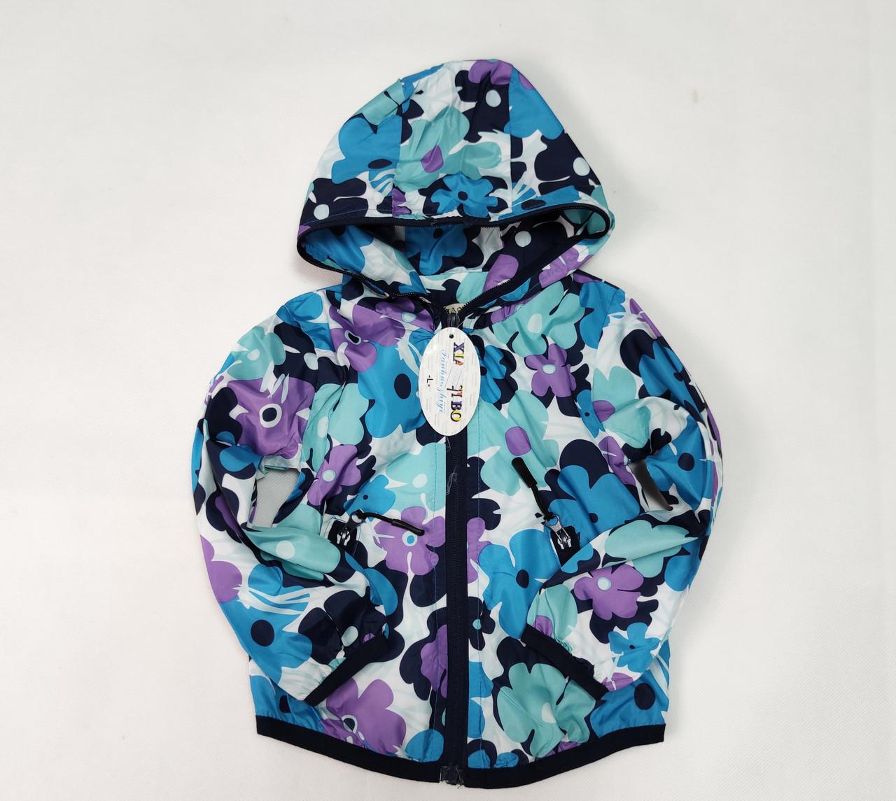 демисезонная курточка голубая цвета для девочки