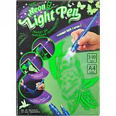 """Набір креативного творчості """"NEON LIGHT PEN"""" для малювання ультрафіолетом """"УКР"""""""