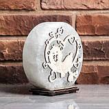 Соляной светильник круглый Мишка в сердце, фото 4