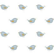 Bird Blue White