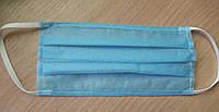 Маска трехслойная для лица на резинках 100 шт. (шитая)  в упаковке (RT-100 шт)
