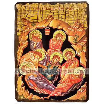 Икона Семь отроков Эфесских ,икона на дереве 130х170 мм