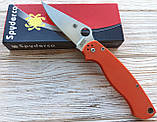 Нож Spyderco Para-Military 2 оранж. реплика +паракорд, фото 8