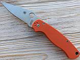 Нож Spyderco Para-Military 2 оранж. реплика +паракорд, фото 9